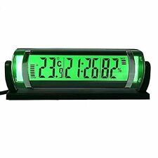 Car Hygrometer Thermometer Clock Green Backlight New