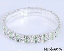 Rhinestone Silver Plated Costume Bracelets