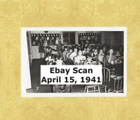VT Brattleboro 1941 Grade School Classroom Photo Vermont June 15 1941 Lunch box
