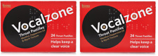 2x Vocalzone Throat Pastilles 24 Helps keeps Clear Voice singing Sore Throat