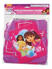 """Dora and Friends Party Supplies 7.59ft. Banner """"Happy Birthday"""""""