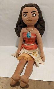 "Disney Store 19"" Hawaiian Princess Authentic Moana Stuffed Plush Toy Doll"