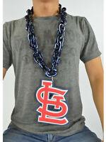 New MLB St. Louis Cardinals Navy Blue Fan Chain Necklace Foam Magnet - 2 in 1