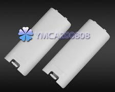 2 x Blanca Carcasa Cubierta de Batería Accesorio para Controlador Nintendo Wii