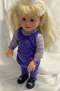 1999 Playmates AMAZING ALLY LETS PLAY TEA PARTY TOY TALKING DOLL WORKS GREAT