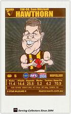 2008 AFL Teamcoach Trading Card Star Wild Card SW8 Sam Mitchell (Hawthorn)