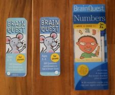 Lot of 3 BRAIN QUEST Card Decks, Ages 3- 4, Smart Questions, Dry Erase Numbers