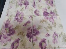 """Ralph Lauren """"VIOLETTE"""" Pair of KING Pillowcases Cotton DEEP PURPLE Florals"""