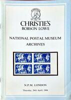 Auction Catalogue NATIONAL POSTAL MUSEUM ARCHIVES GB Bechuanaland Levant Nauru