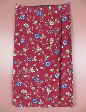 SK15116 -TALBOTS Women's 100% Rayon Wrap Long Flare Skirt Multicolor Floral 18