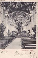 AK Trier gel. 1905 Innernansicht Paulinuskirche St. Paulin Stiftskirche Kirche