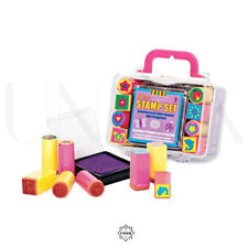 Mini Assorted Stamp Set - Includes: 1 Ink Pad & 8 Stamps - Kids Arts & Craft Kit