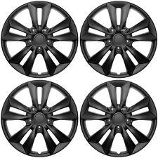 4 Pc Set Of 16 Matte Black Hub Caps For Oem Steel Wheel Cover Center Cap Covers Fits Volvo