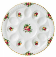 "Royal Albert Old Country Roses Deviled Egg Plate Platter 11.5"" New IN BOX (s)"