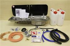 SMEV 9222 DOMETIC M09222 COOKER SINK COMBO WITH UPRATED GAS & WATER PLUMBING KIT