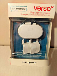 VERSO Rechargeable LED Wrap Light for e-readers  Adjustable NEW IN BOX  MSRP $30