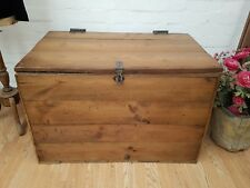 LARGE ANTIQUE FRENCH PINE CHEST / COFFEE TABLE - C1900