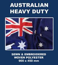 AUSTRALIA HEAVY DUTY OUTDOOR SEWN EMBROIDERED WOVEN FLAG 900 x 450mm AUSTRALIAN