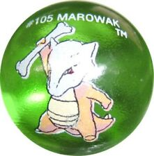 "Marowak #105 Green Colored GLASS Vintage Pokemon MARBLE 1.15"" Shooter"