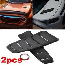 2x Car Decorative Air Scoop Flow Intake Hood Vent Bonnet Universal DIY Black