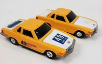 Vintage Trico Mercedes Rally Grand Prix Car #49 Yellow Lot of 2