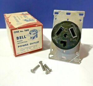 NEMA 10-30R Flush RECEPTACLE Power Outlet L Ground Slot 3W 30A 250V 160B NEW