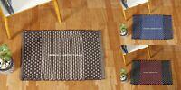Non-Slip Rug Carpet Bathroom Mat Cotton Hand Woven Bedroom Door Mats Floor Rug