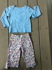 Gymboree 4 Wish You Were Here Vintage 2007 Outfit Pants Shirt Floral