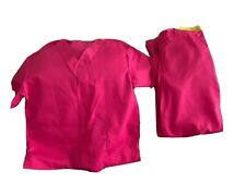 Pink scrub set women