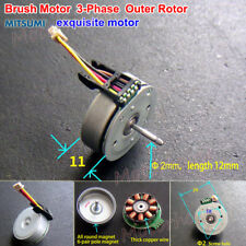 Mitsumi Brushless Motor 3-Phase Mini External Outer Rotor DIY fan RC Drone Model