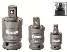 Titan 16151 3pc. Wobble Adapter Set ,Pin-Free Locking Impact Ujoint adapter