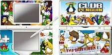 Nintendo DS Lite-Club Penguin 4 piece decal / autocollant Peau Vinyle