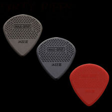 3 Dunlop Max Grip Jazz III Guitar Picks 1 Of Each Type