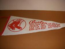 "Vintage Boston Red Sox Baseball 30"" Long, White Pennant!"