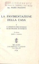 LINOLEUM MATERIALE COSTRUZIONE PAVIMENTO PIAZZINI PAVIMENTAZIONE EDILIZIA 1928