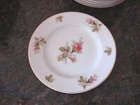"""Vintage FLORAL PARK MOSS ROSE Japan SALAD PLATE 7 3/4"""""""