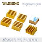 10pcs 9 9 5mmGolden Aluminum Heatsink Heat Sink Pads HY1595