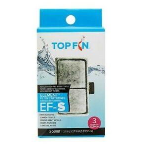 Top Fin EF-S Element Aquarium Filter Cartridges - 3 pack *NEW