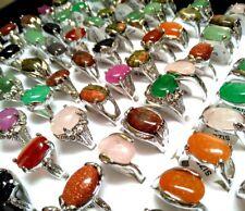 50pcs Women Nature Stone Quality Rhinestone Rings Color mix Jewelry Job Lot