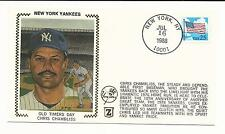 Chris Chambliss New York Yankees Old Timers Day Z Silk Cachet Cover