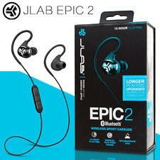 NEW JLab Audio Epic2 Bluetooth 4.0 Wireless Sport Earbuds w/ Microphone BLACK