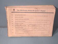 99 1999 Pontiac Bonneville owners manual