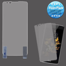 For LG Phoenix 2 Twin Pack Screen Protector Guard with Cleaning Cloth Accessory