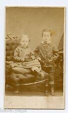 Siblings, Girl & Boy, CDV by Frank Paltridge, Galt, ON Canada