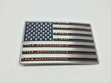 USA Flag New BELT BUCKLE Metal United States America AntiqueLook Red/Silver/Blue