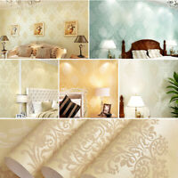 3D Crystals European Gold Damask Embossed Textured Living Room Wallpaper Decor