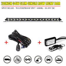 20INCH LED WORK LIGHT BAR SPOT WIRING HARNESS REMOTE CONTROL OFFROAD ATV UTV SUV