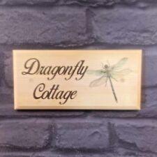 PERSONALIZZATO DRAGONFLY Placca / Firmare / Regalo-HOUSE COTTAGE GARDEN porta nome