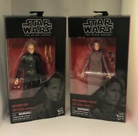 Star Wars The Black Series 6-inch Vice Admiral Holdo & Dryden Vos 79 & 80 NIB