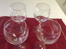 271e8497c83 HOME ESSENTIALS & BEYOND WINE GLASSES W/ETCHED FLOWERS - 8-1/2